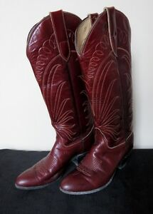 Bottes de cowboy brun Tony Lama gr8.5 Ladies brown cowboy boots