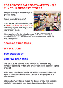 UPDATE YOUR GROCERY STORE CASH REGISTER WITH A POS SYSTEM !