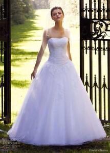 David's bridal wedding dress size 6