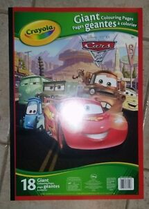 Crayola 18 Giant Colouring Pages Disney Cars 2 Loot Bag Giveaway