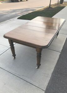 Antique Solid Mahogany Dining Table