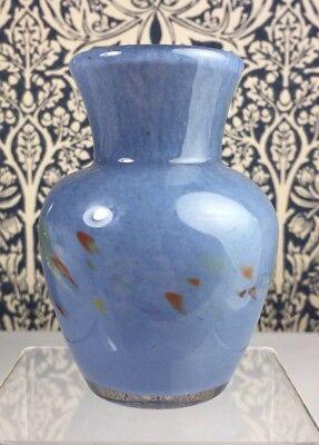 Mid-20th Century Scottish Glass Vasart Vase 'V037' Monart/Ysart Interest