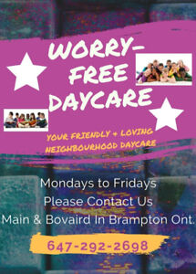 Worry Free Day ~ Your Friendly & Loving Neighborhood Daycare