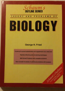 Theory and Problems of Biology - George H. Fried Peterborough Peterborough Area image 1