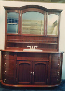Solid Mahogany Cabinet for bathroom