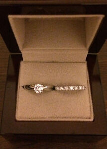 Diamond solitaire and band