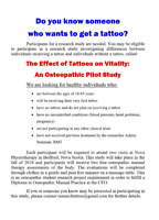Tattoo Research Study - Participants needed