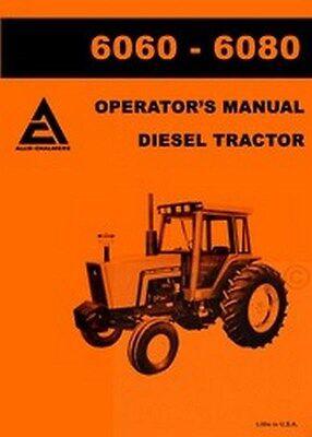Allis Chalmers 6060 6080 Diesel Operators Manual Ac