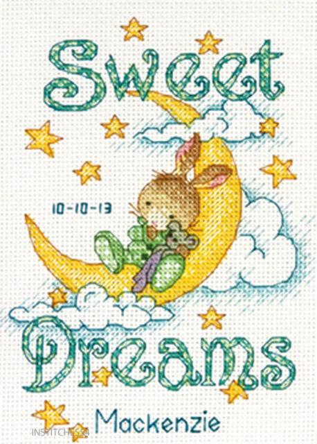 Dimensions Birth Sampler Cross Stitch Kit   Sweet Dreams Birth Record