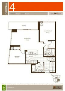 Private condo sale 2+2 by owner. Heart in Mississauga
