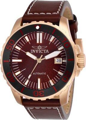 Invicta 25647 Pro Diver Men's 45mm Tin Bronze Rose-Tone Red Dial Automatic Watch