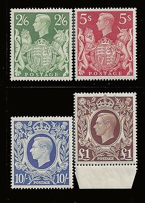 Great Britain Stamps 1942-1948 2sh6d-£1 KGVI MNH £105