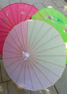 Silk parasols large or small from $5.99 each