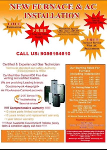 Furnace and Air Conditioner Call Now : 9056164610