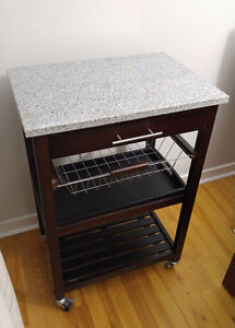 Granite kitchen cart / microwave stand