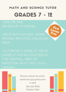 Affordable Math/Science Tutor