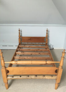 TWO EARLY ONTARIO ANTIQUE BEDSTEADS