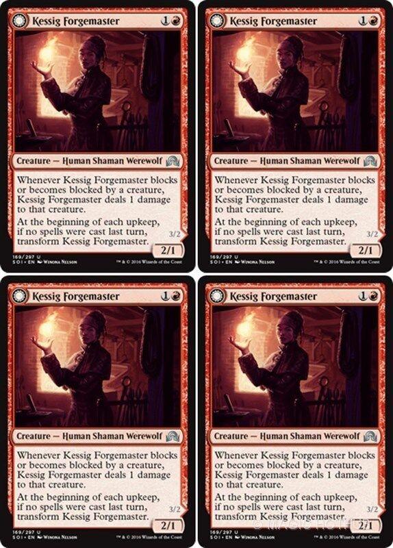 4x BREAKNECK RIDER Shadows over Innistrad MTG Red Creature — Human Werewolf Unc