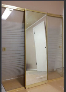 TUB  SLIDE DOOR with GLASS and MIRROR