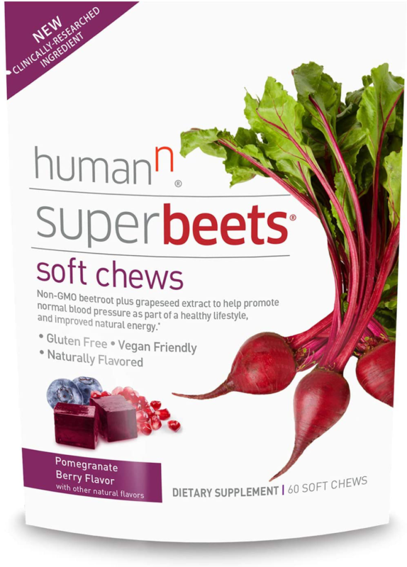 humanN SuperBeets Soft Chews | Grape Seed Extract and Non-GMO Beet Powder Helps