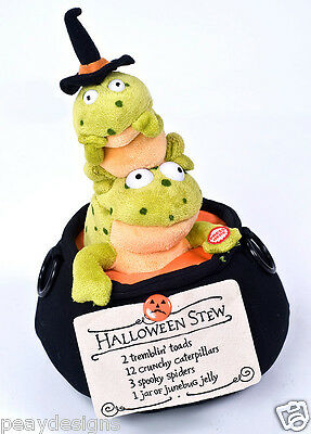 Hallmark Halloween Stew SINGING ANIMATED FROGS Witches Brew Cauldron SEE VIDEO - Halloween Witches Stew