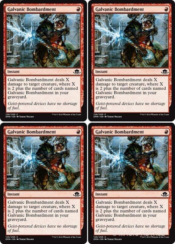{MTG} x4 Borrowed Hostility Eldritch moon NM Red C