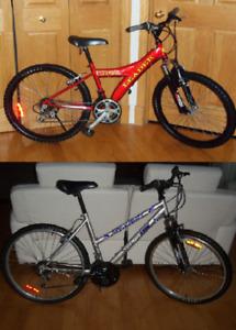 Bicyclettes Vélos 24 pouces Leader et 26 pouces sportek