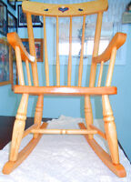 Maple Hi-back child's rocking chair $20.00