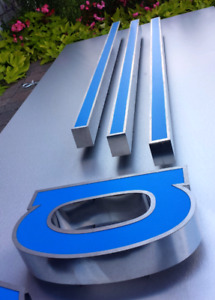 ENSEIGNES EN INOX speciale LED STAINLESS SIGNS channel letters