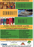 9TH ANNUAL THORNCLIFFE COMMUNITY MARKET