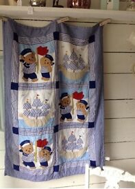 Gorgeous cot/toddler bed quilt/throw
