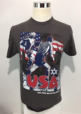 2014 FIFA World Cup Brazil Men's Shirt Medium Gray Team USA Collectible Rare