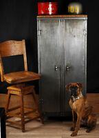 meuble urbain industreil antique bois metal fonte beton