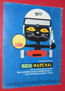 FRENCH 1967 S.E.V. MARCHALL LIGHTS & SPARK PLUGS AD - ANONCE 60S