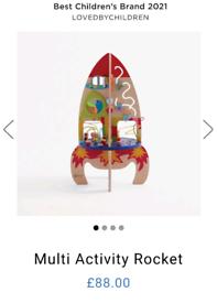 Sensory toy activity rocket table