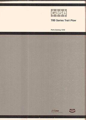 Case 700 Series Trail Plow Parts Catalog Manual