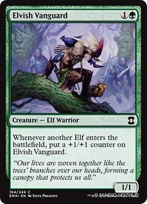 Elvish Vanguard Eternal Masters Mtg Green Creature   Elf Warrior Com