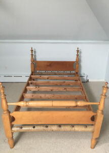 TWO, EARLY ONTARIO, ANTIQUE BEDSTEADS