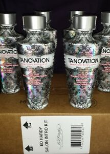 6 BRAND NEW Ed Hardy TANOVATION Tanning Salon Bed Lotion SEALED