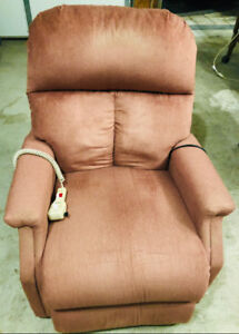 Power lift, recliner chair made by Pride, with massager and heat
