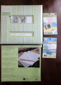 2 brand new scrapbooks + extras purchased from Michaels