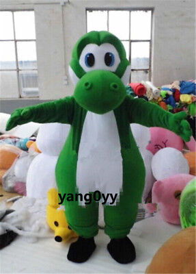 Yoshi Dinosaur Mascot Costume Super Mario Character Cosplay Dress Adult Newly++