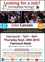 Vancouver Job Fair – September 29th, 2016