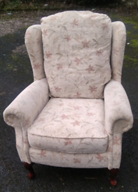Single high back armchair delivery available