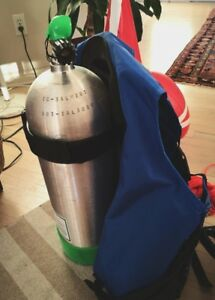 New Luxfer 63cf Scuba Tank with SeaQuest  Spectrum 3 BCD