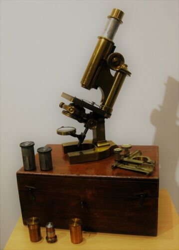 A good R&J Beck brass Continental compound Microscope, late 19th Century