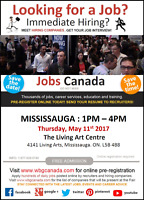 FREE Mississauga Job Fair - Thursday, May 11st, 2017