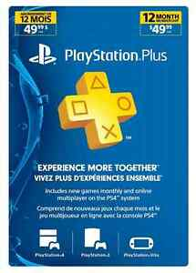 PS Plus 12 Month Subscription Card -Live - 12-Month PlayStation Kingston Kingston Area image 1