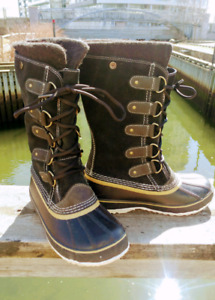As new Sorel boots ladies 7 1/2