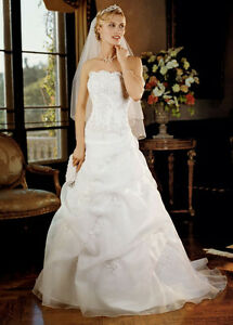 Gorgeous Corset A-line Wedding Dress (REDUCED Price) London Ontario image 1